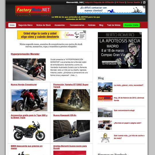 Página Web de Factory Moto